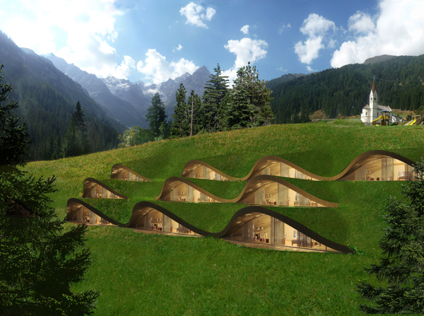 5 ejemplos sorprendentes de arquitectura sostenible for Designhotel italien