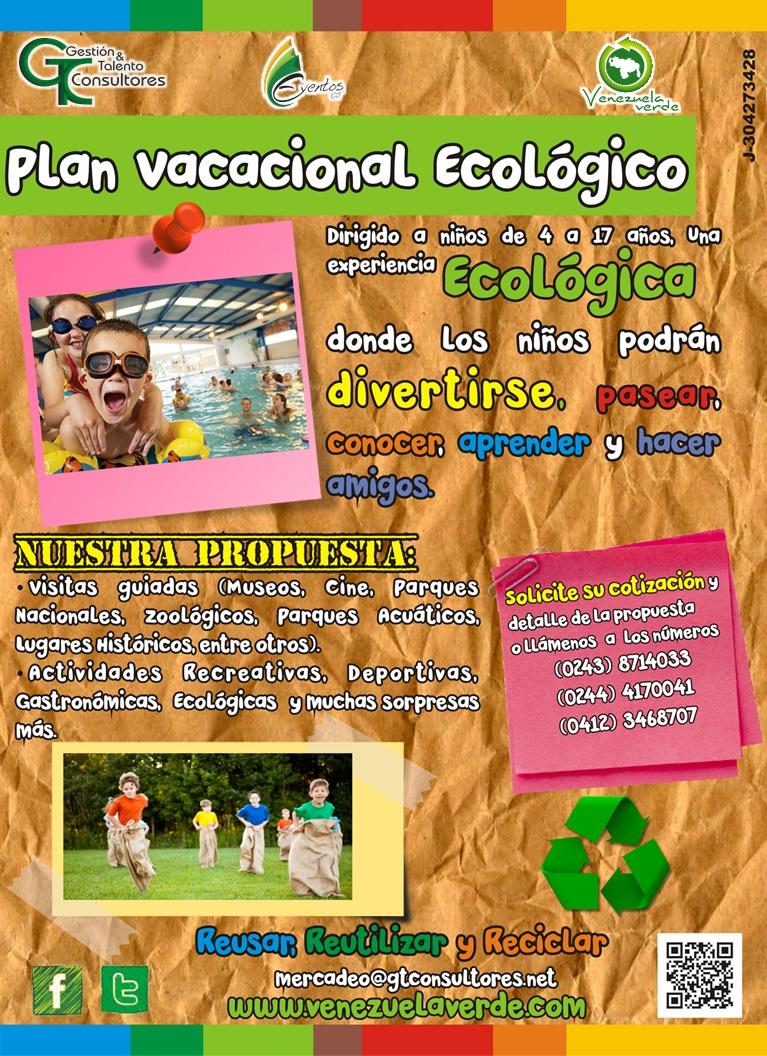 Plan Vacacional Ecológico