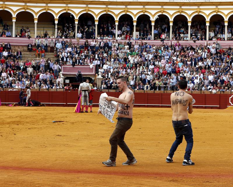 activistas plaza de toros