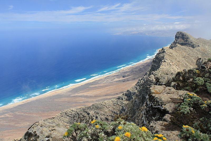 Playa, Barlovento vista desde Pico de la Zarza
